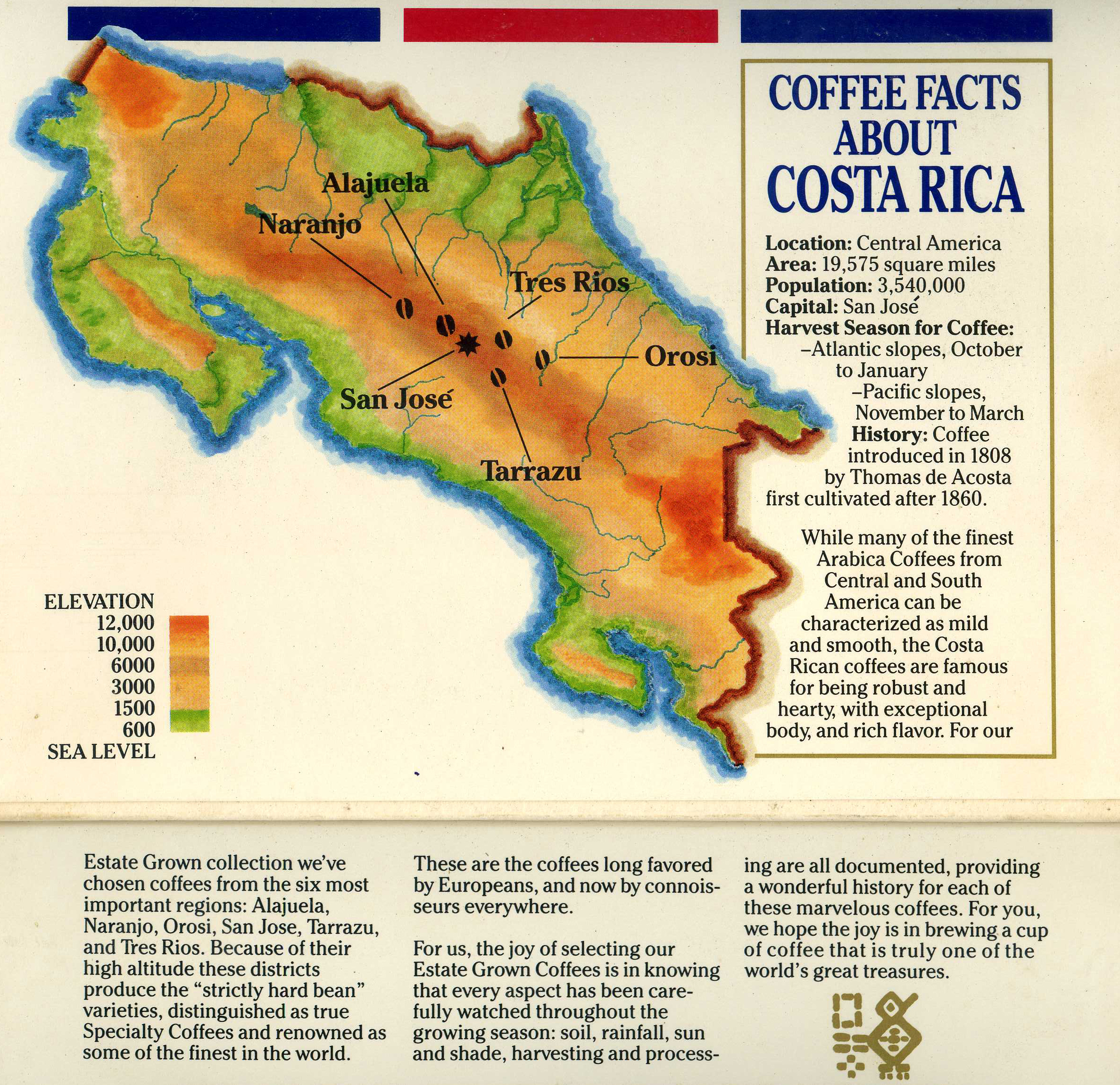 How We Roast The Perfect Coffee Sun Burst Coffee - Costa rica regions map